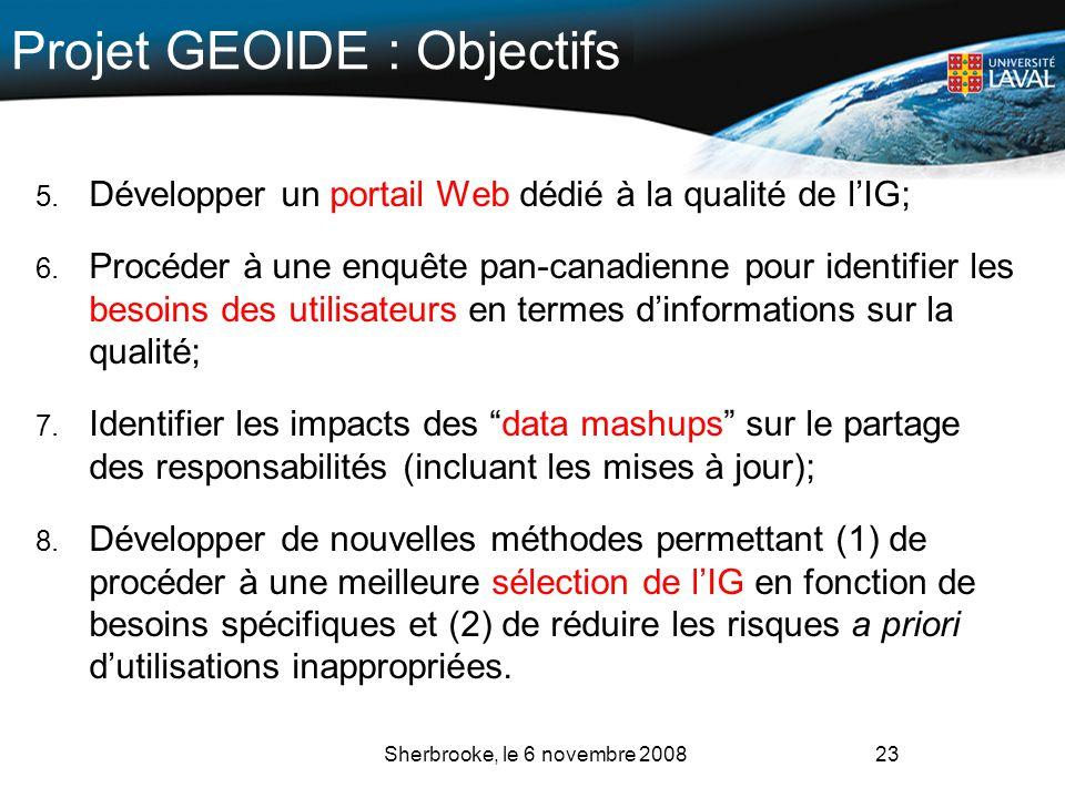 Projet GEOIDE : Objectifs