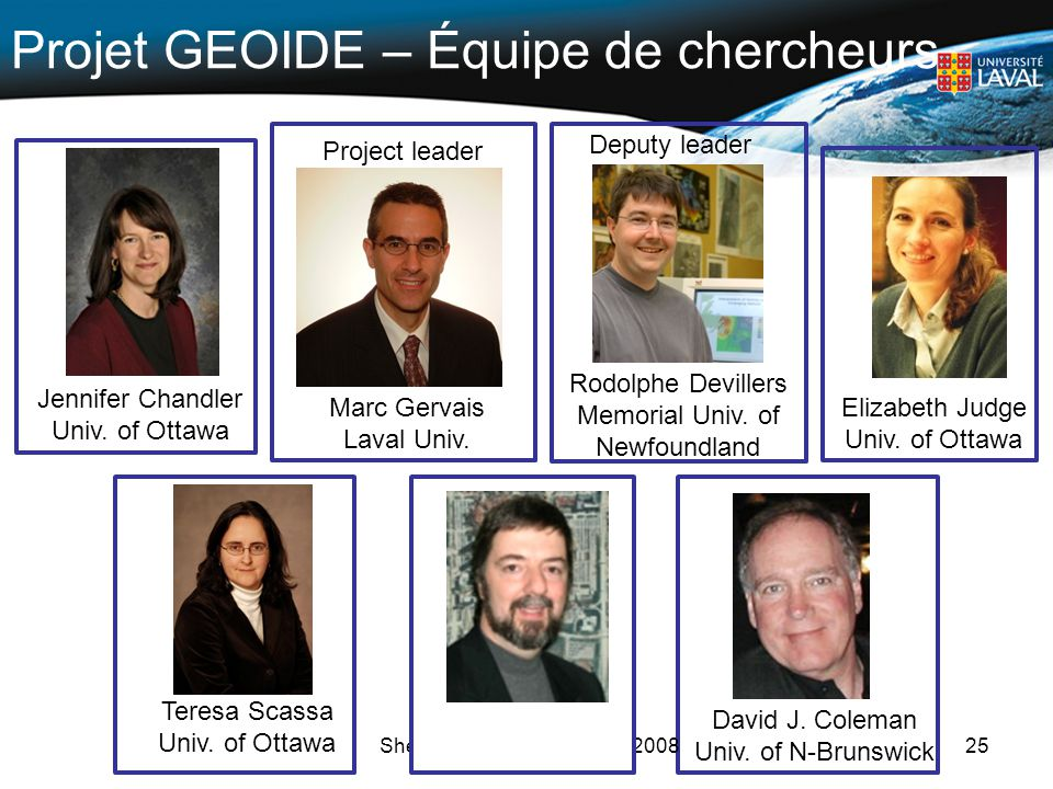 Projet GEOIDE – Équipe de chercheurs