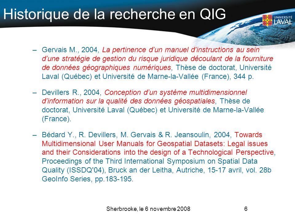 Historique de la recherche en QIG