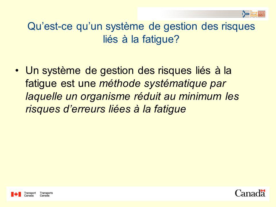 Qu'est-ce qu'un système de gestion des risques liés à la fatigue