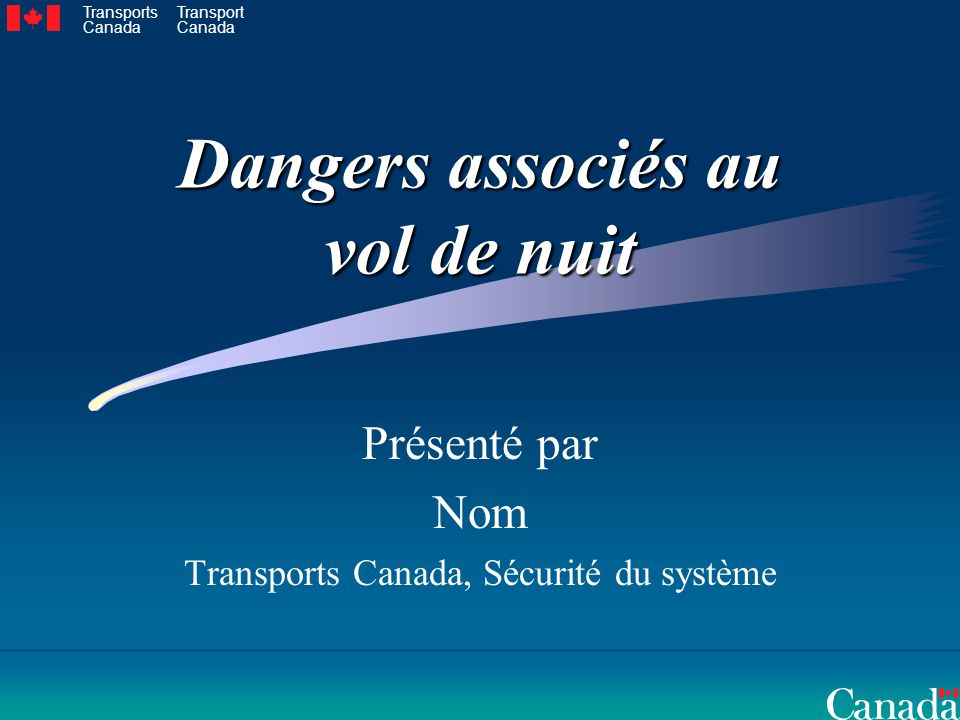 Dangers associés au vol de nuit