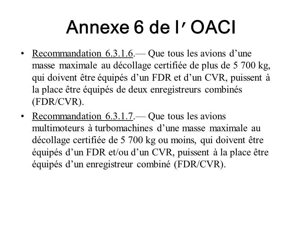Annexe 6 de l'OACI
