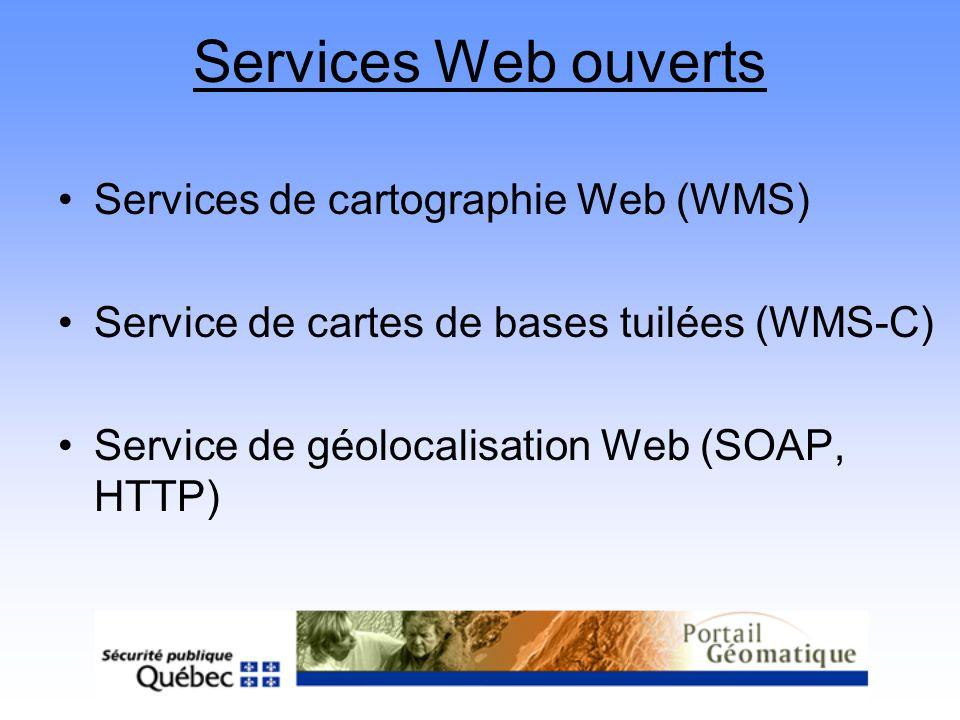 Services Web ouverts Services de cartographie Web (WMS)