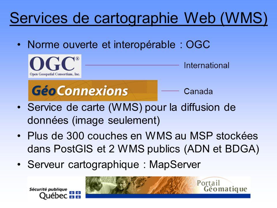 Services de cartographie Web (WMS)