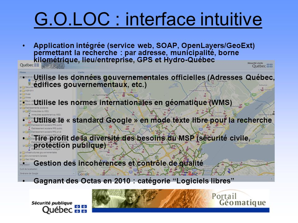 G.O.LOC : interface intuitive