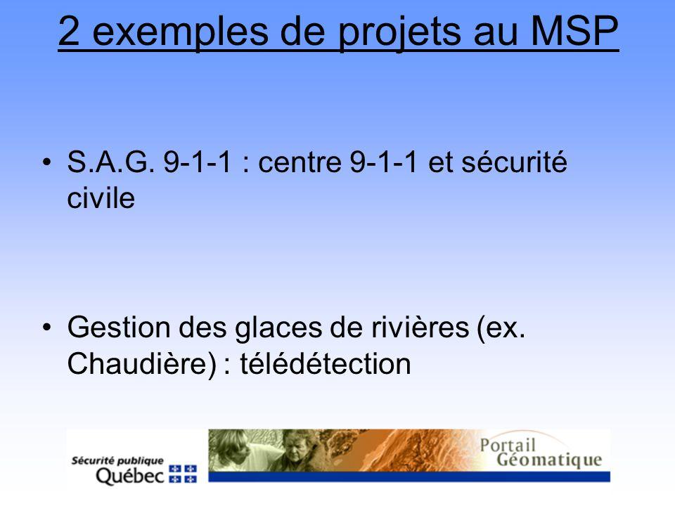 2 exemples de projets au MSP