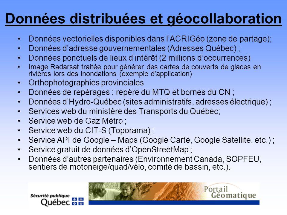 Données distribuées et géocollaboration