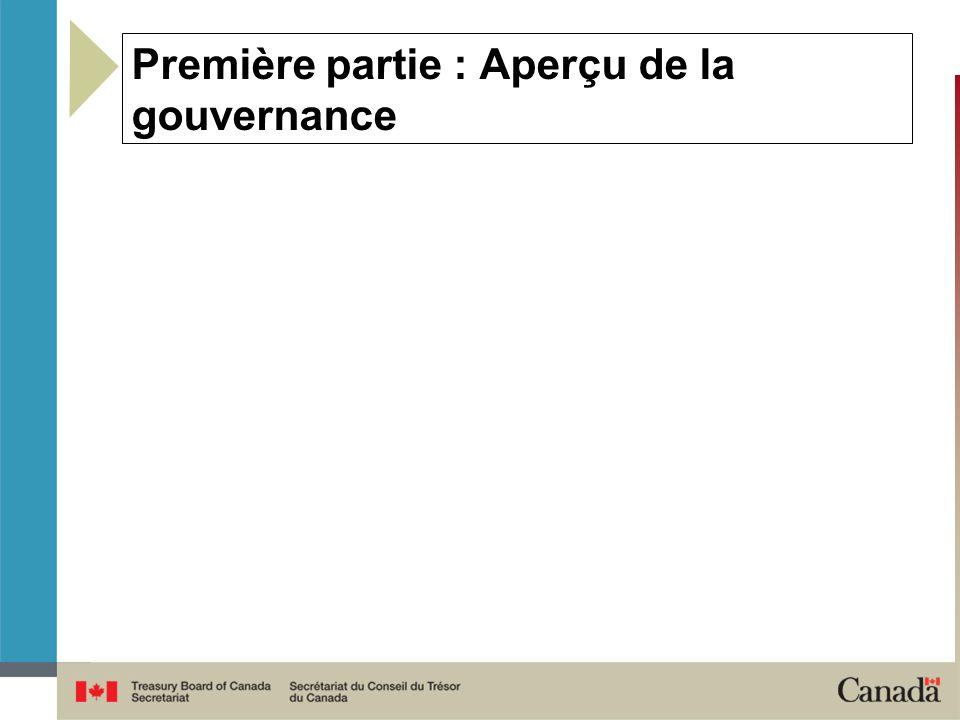 Première partie : Aperçu de la gouvernance