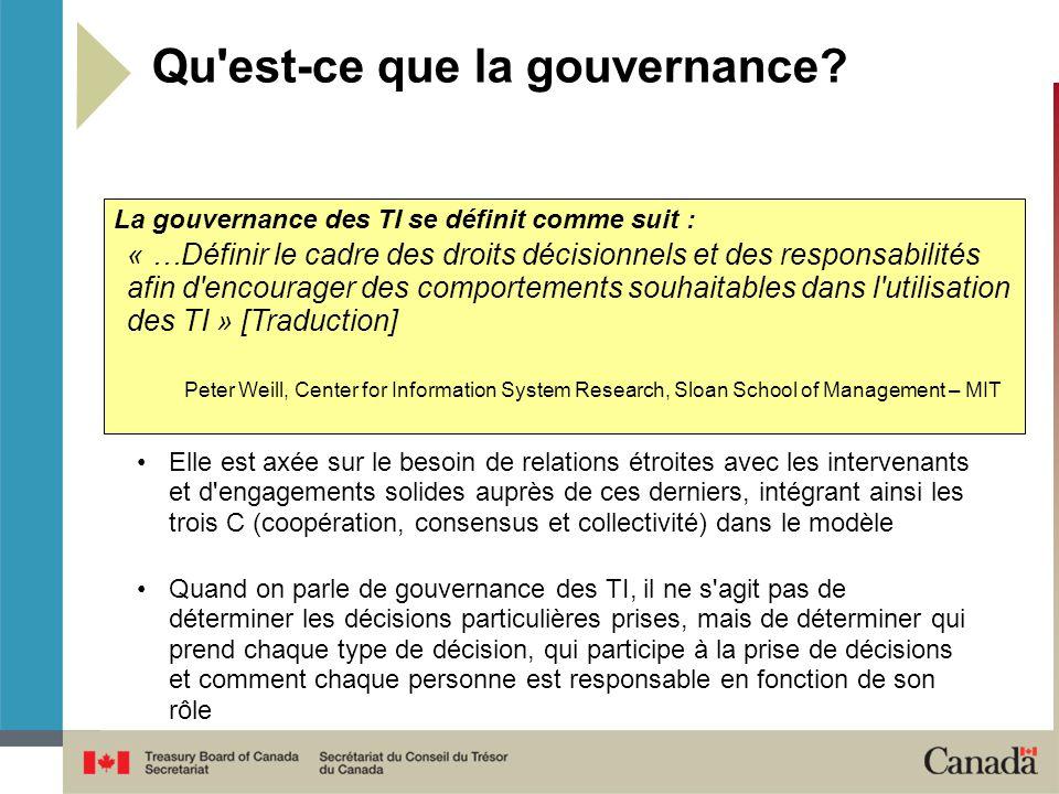 Qu est-ce que la gouvernance