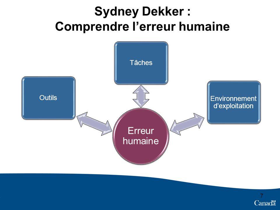 Sydney Dekker : Comprendre l'erreur humaine