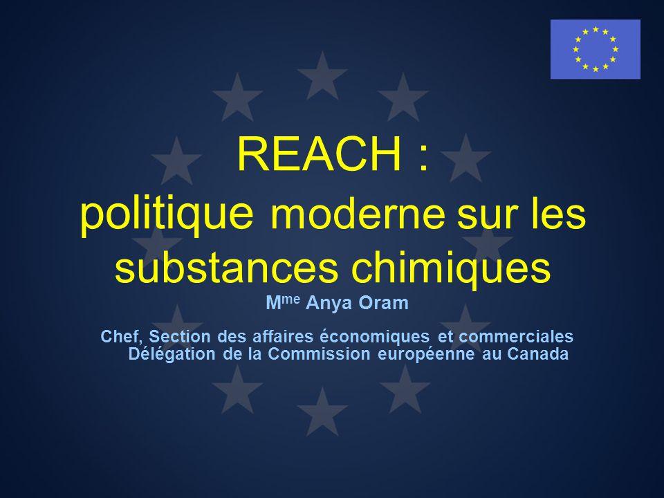 REACH : politique moderne sur les substances chimiques
