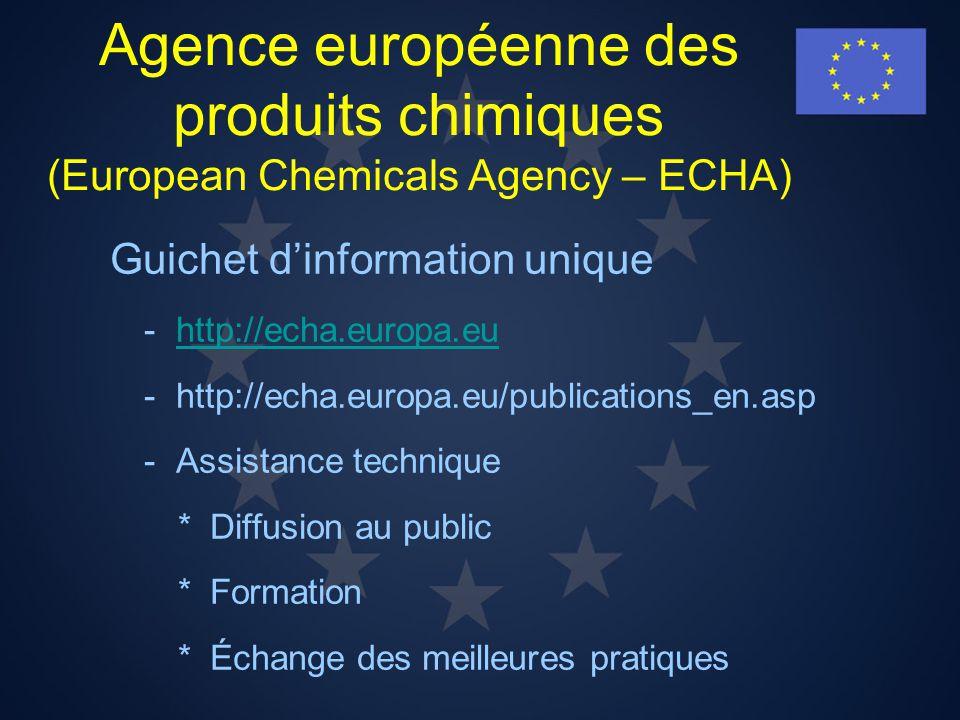 Agence européenne des produits chimiques (European Chemicals Agency – ECHA)