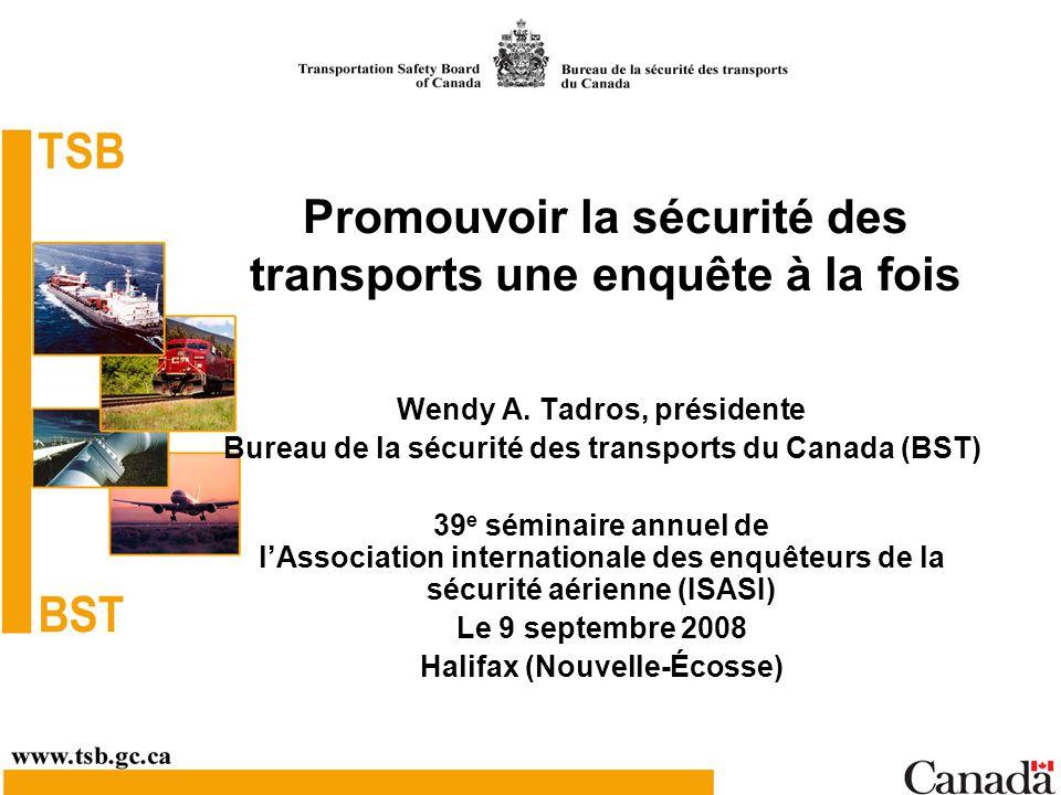 Promouvoir la sécurité des transports une enquête à la fois
