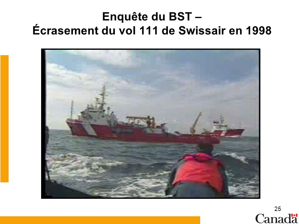 Enquête du BST – Écrasement du vol 111 de Swissair en 1998