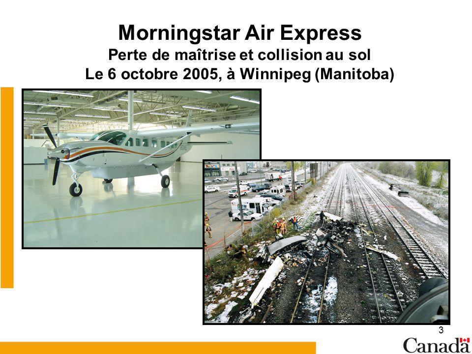 Morningstar Air Express Perte de maîtrise et collision au sol Le 6 octobre 2005, à Winnipeg (Manitoba)