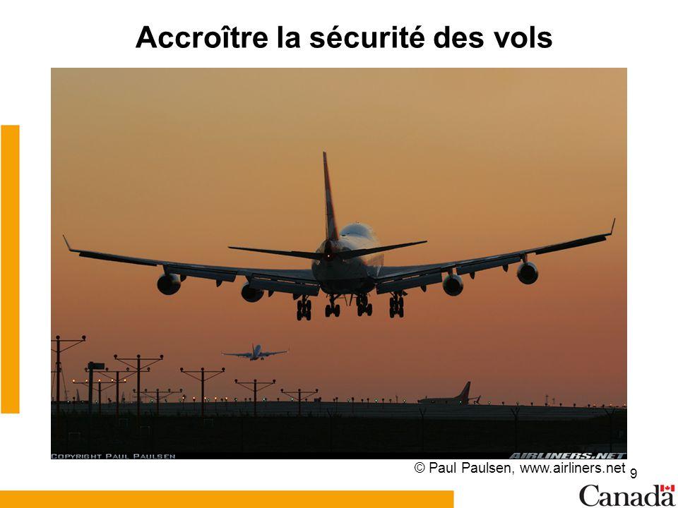 Accroître la sécurité des vols