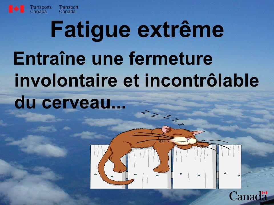 Fatigue extrême Entraîne une fermeture involontaire et incontrôlable du cerveau...