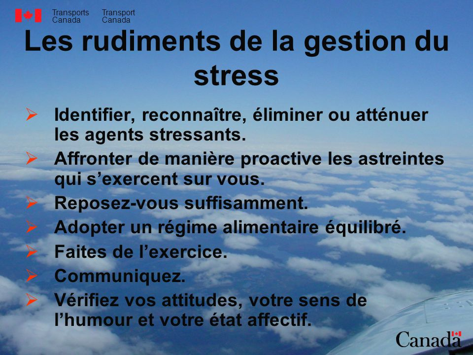 Les rudiments de la gestion du stress