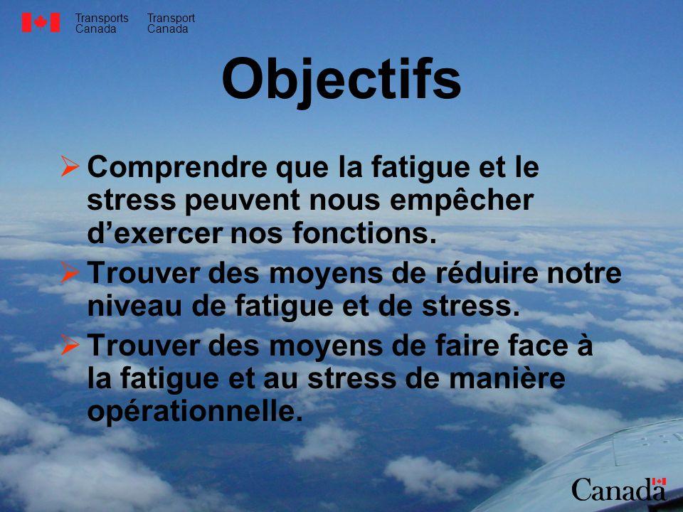 Objectifs Comprendre que la fatigue et le stress peuvent nous empêcher d'exercer nos fonctions.