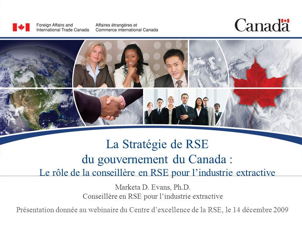 Marketa D. Evans, Ph.D. Conseillère en RSE pour l'industrie extractive