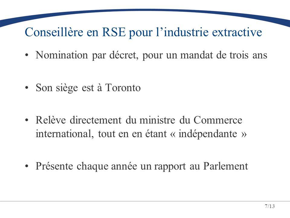 Conseillère en RSE pour l'industrie extractive