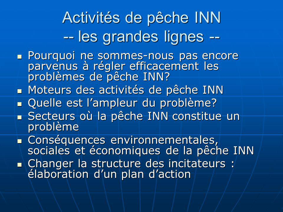 Activités de pêche INN -- les grandes lignes --