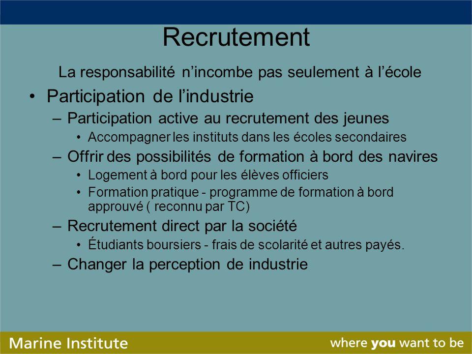 Recrutement La responsabilité n'incombe pas seulement à l'école