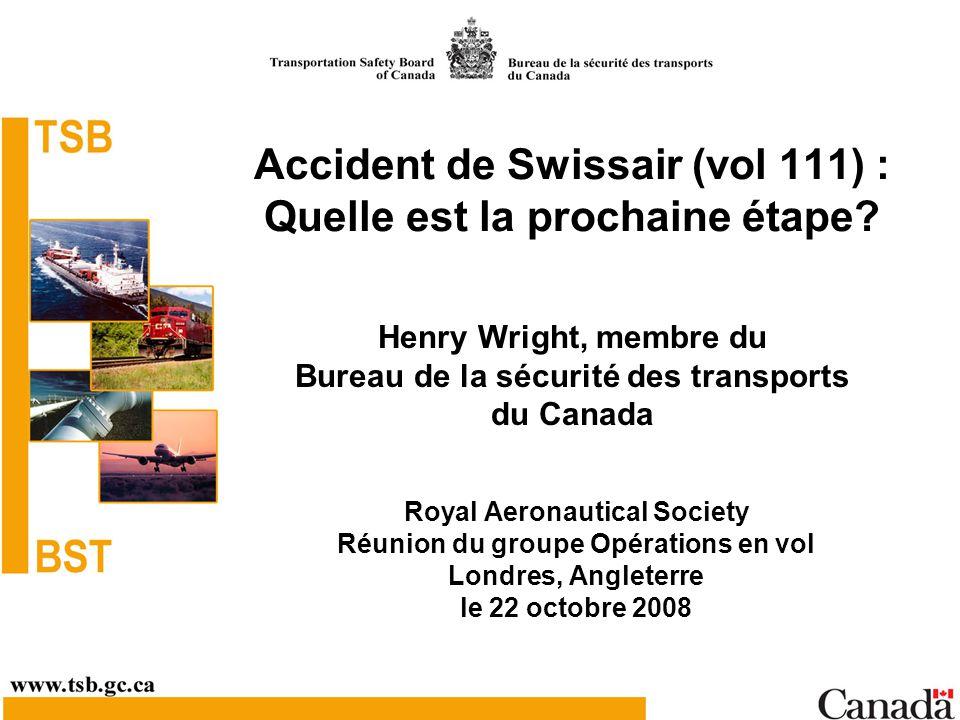 Accident de Swissair (vol 111) : Quelle est la prochaine étape