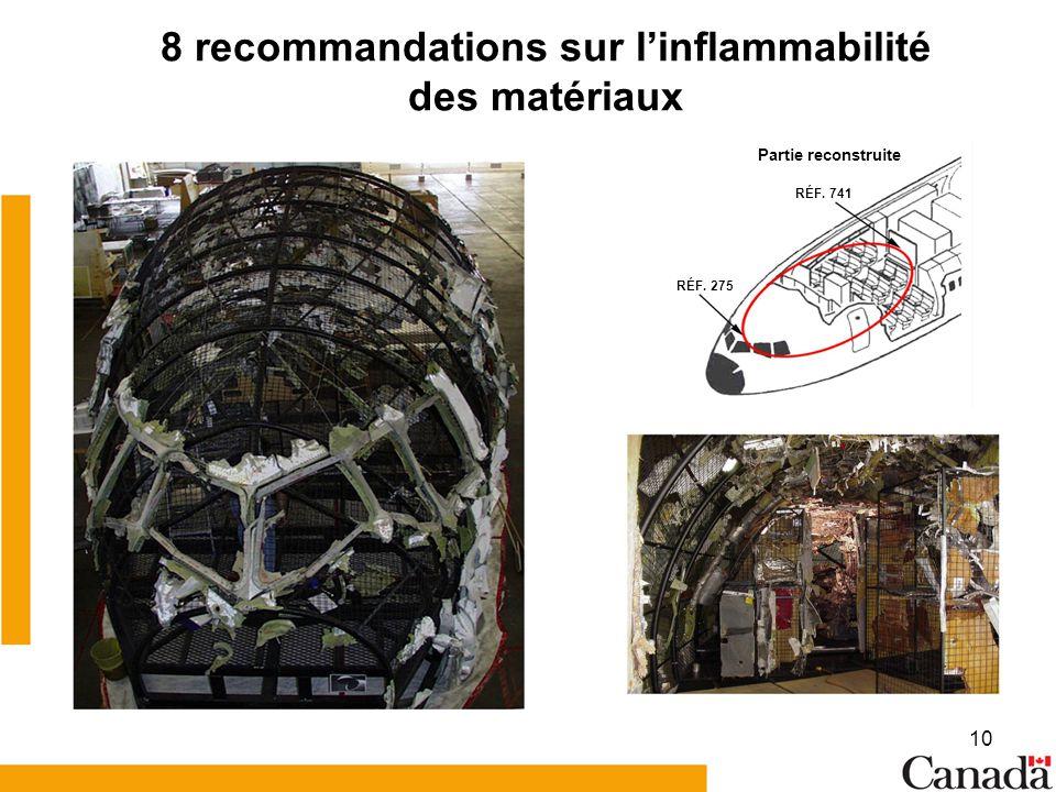8 recommandations sur l'inflammabilité des matériaux