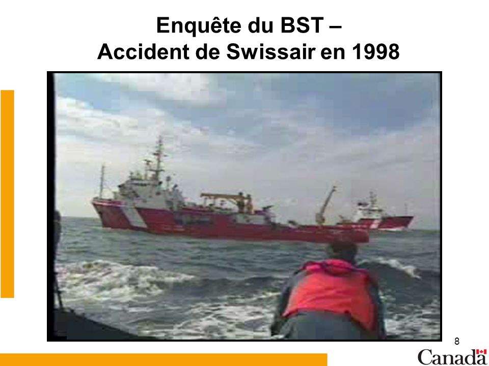 Enquête du BST – Accident de Swissair en 1998