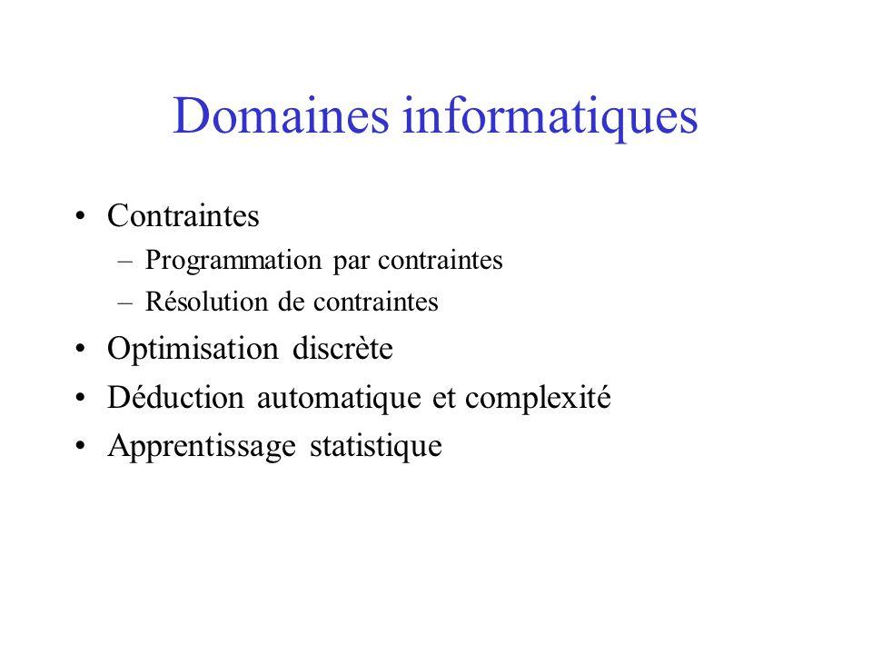 Domaines informatiques