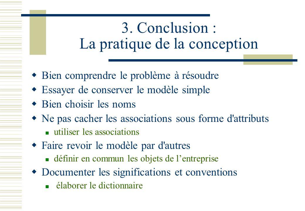 3. Conclusion : La pratique de la conception