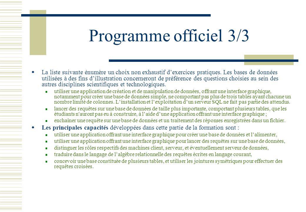 Programme officiel 3/3