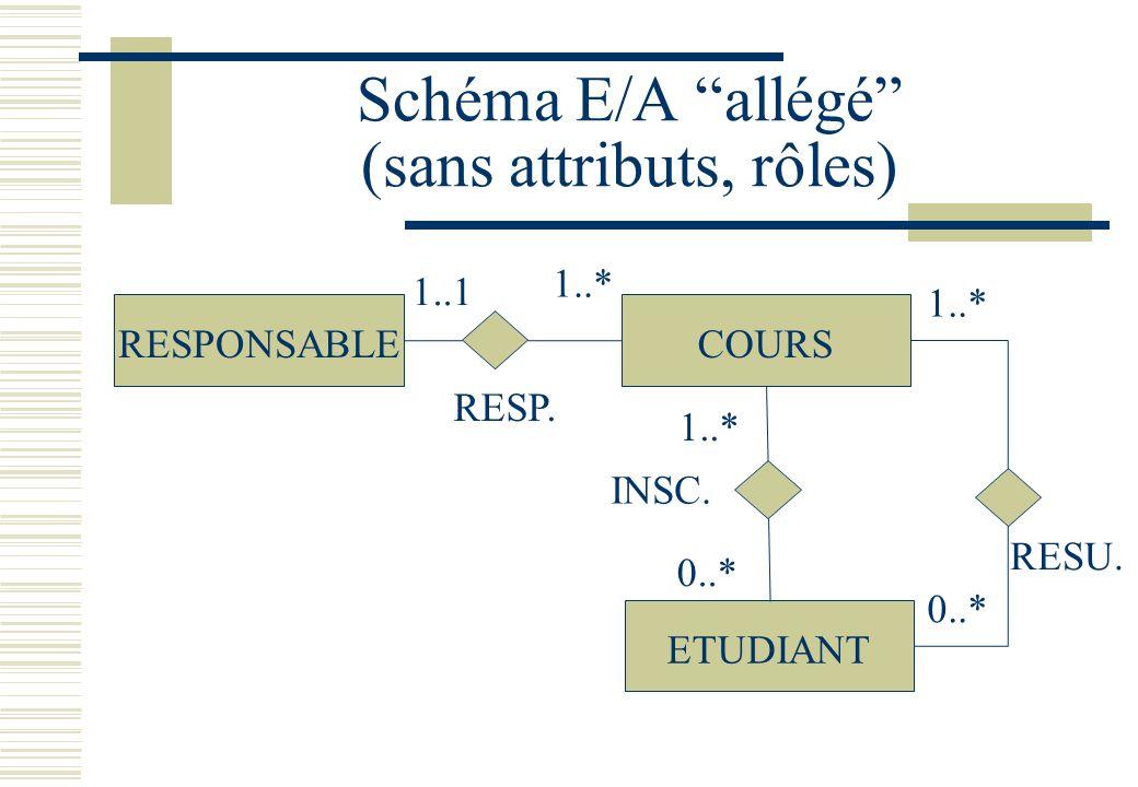 Schéma E/A allégé (sans attributs, rôles)