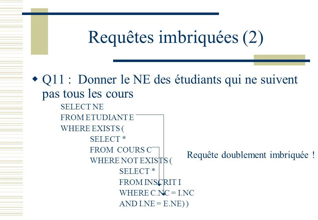 Requêtes imbriquées (2)