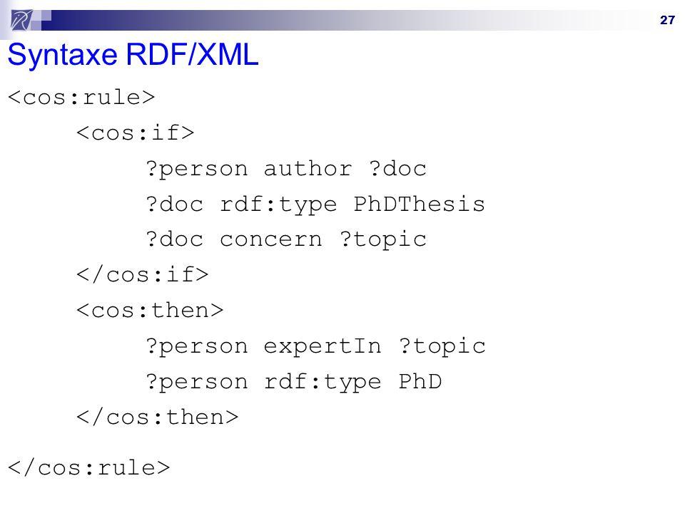 Syntaxe RDF/XML