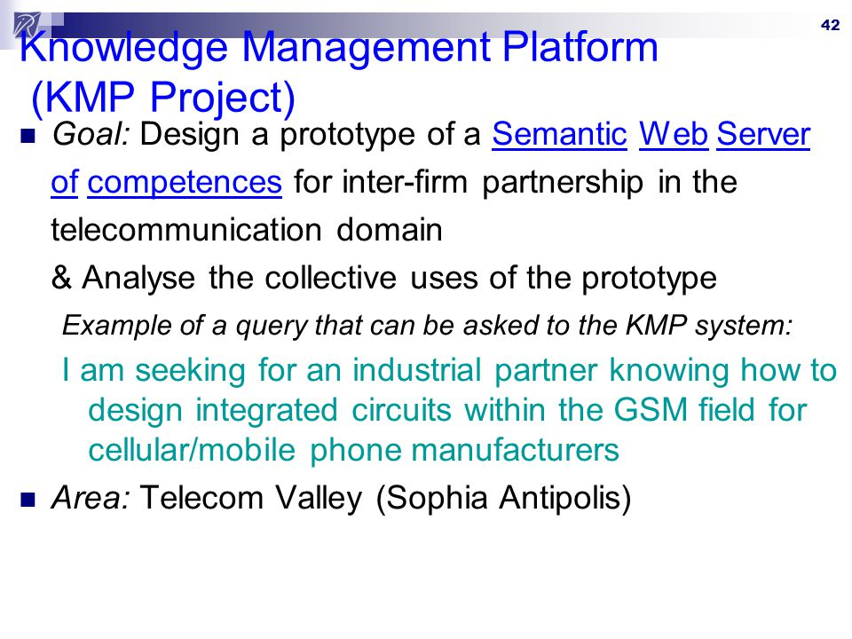 Knowledge Management Platform (KMP Project)