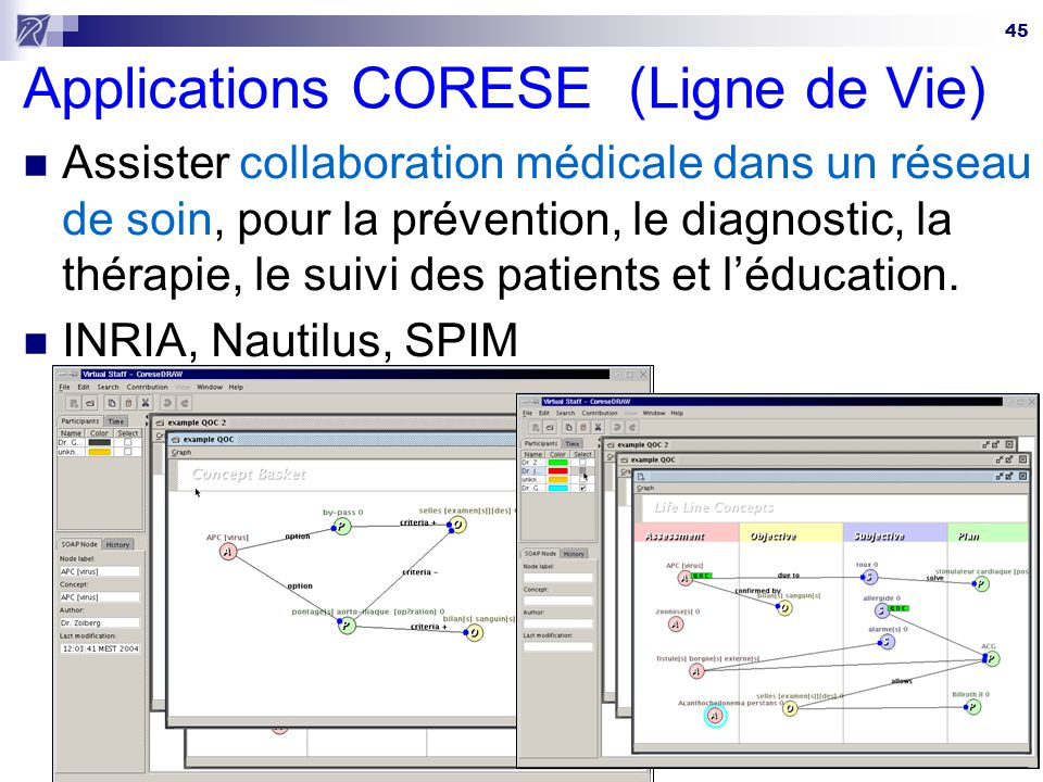 Applications CORESE (Ligne de Vie)