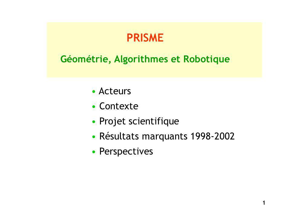 Géométrie, Algorithmes et Robotique