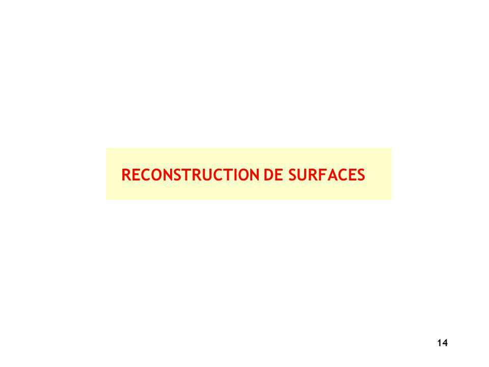 RECONSTRUCTION DE SURFACES