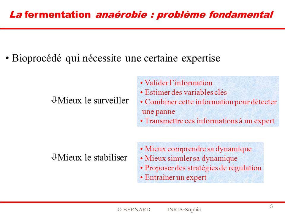 La fermentation anaérobie : problème fondamental