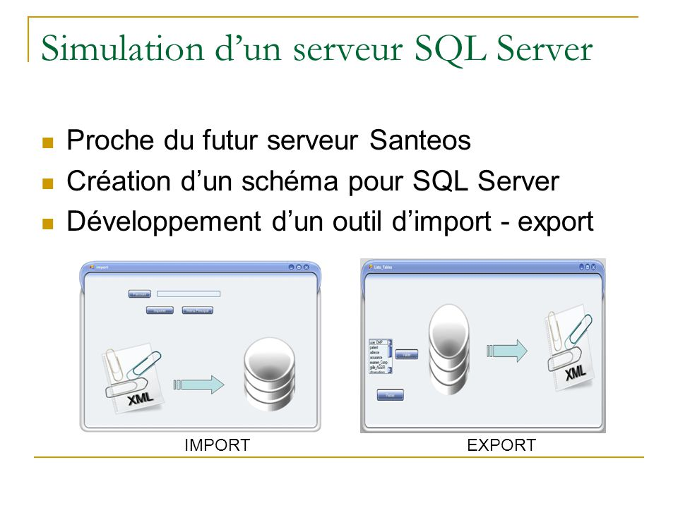 Simulation d'un serveur SQL Server