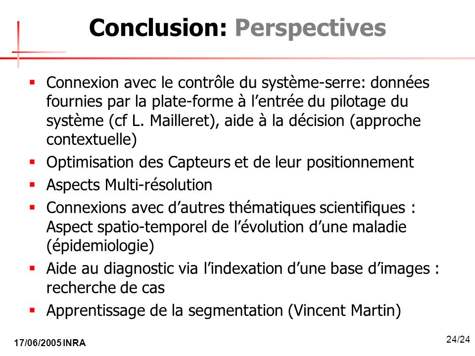 Conclusion: Perspectives