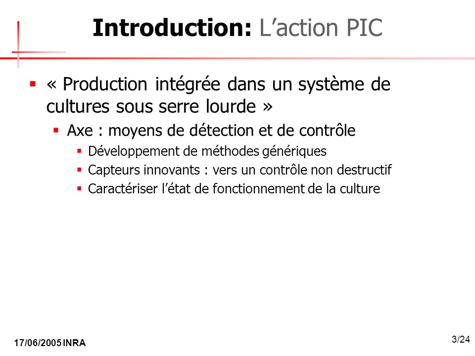 Introduction: L'action PIC