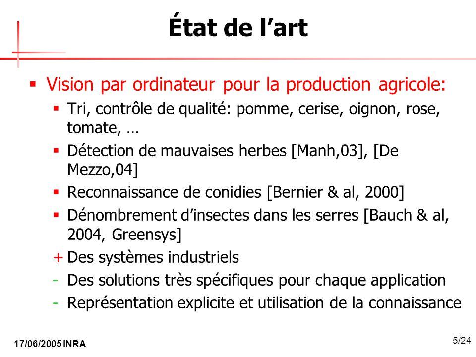 État de l'art Vision par ordinateur pour la production agricole: