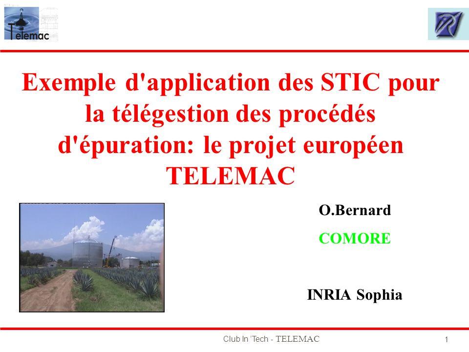 Exemple d application des STIC pour la télégestion des procédés d épuration: le projet européen TELEMAC