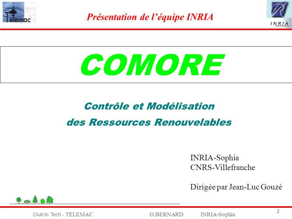 COMORE Contrôle et Modélisation des Ressources Renouvelables