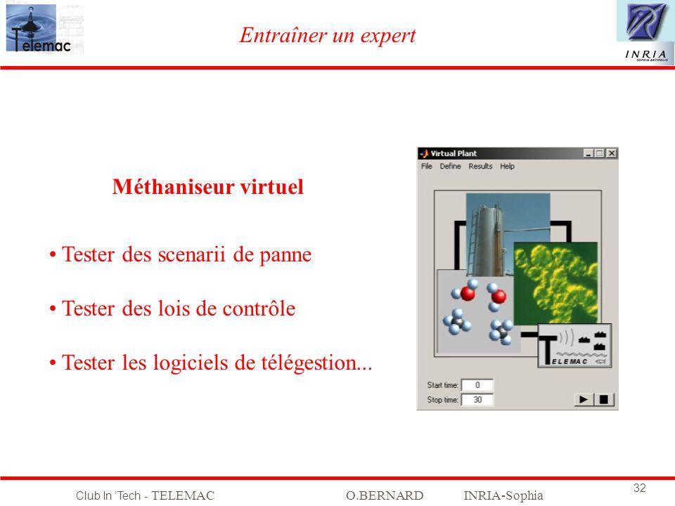 Entraîner un expert Méthaniseur virtuel. Tester des scenarii de panne. Tester des lois de contrôle.