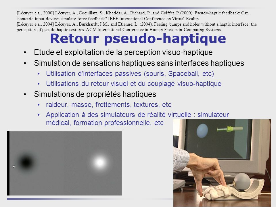 Retour pseudo-haptique