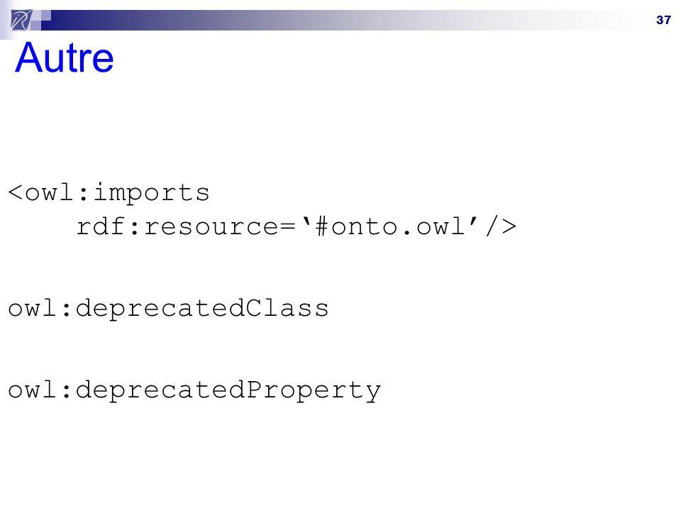 Autre <owl:imports rdf:resource='#onto.owl'/>